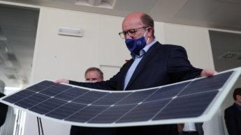 Painéis solares fotovoltaicos flexíveis e de baterias de lítio de alta temperatura