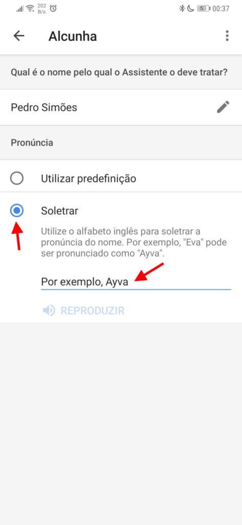 Assistente Google nome alterar Android