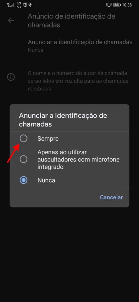 Aplicación de conexión de teléfono de Google Android
