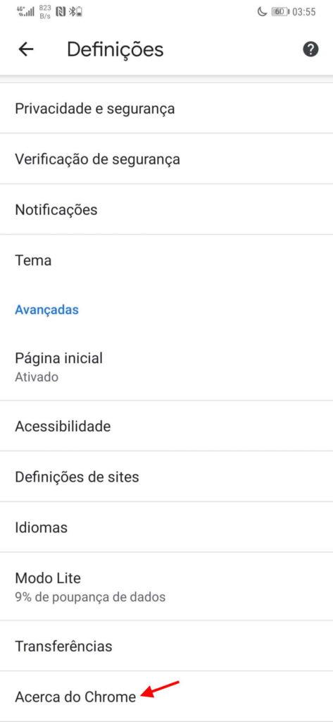 Chrome Google Android browser programador