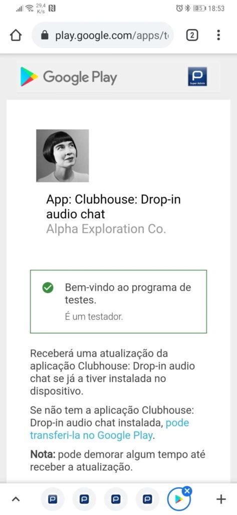Clubhouse Android APK app instalação