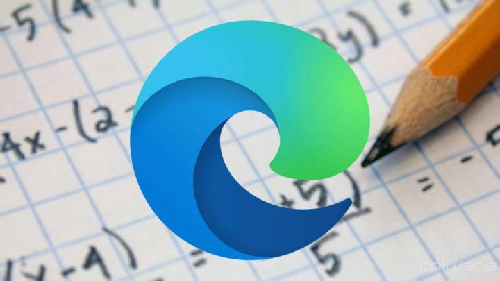 Edge Microsoft browser matemática problemas