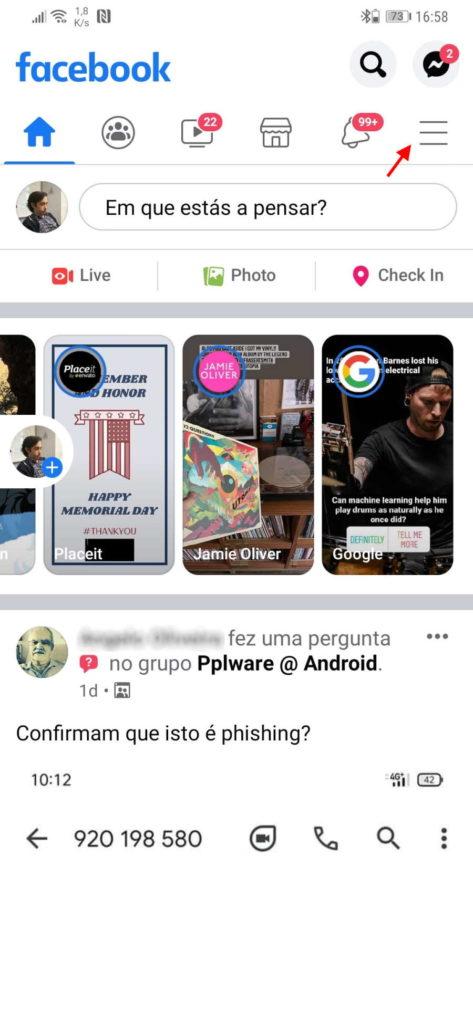 Facebook dark mode Android funcionalidade