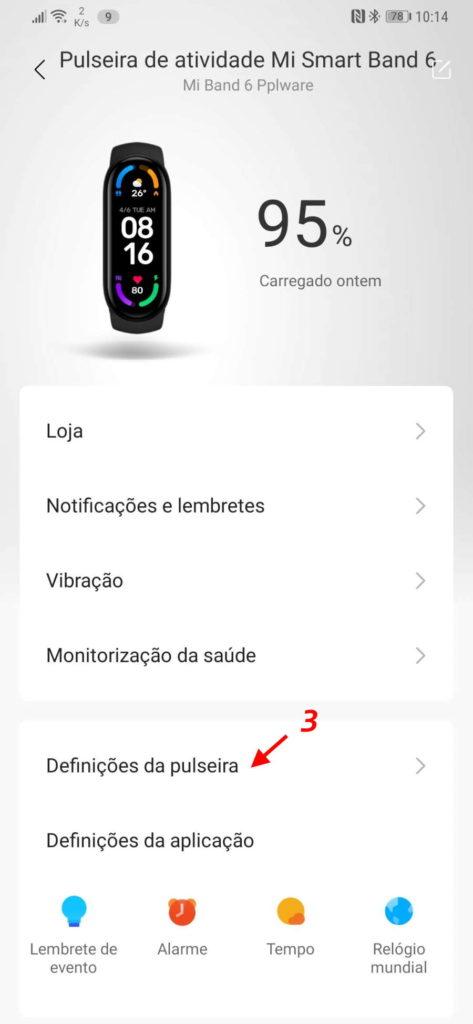 Mi Band 6 Xiaomi português idioma smartband