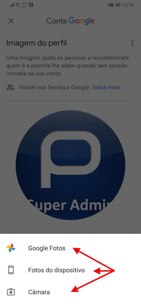 Servicios de Google Fotos de Google Android