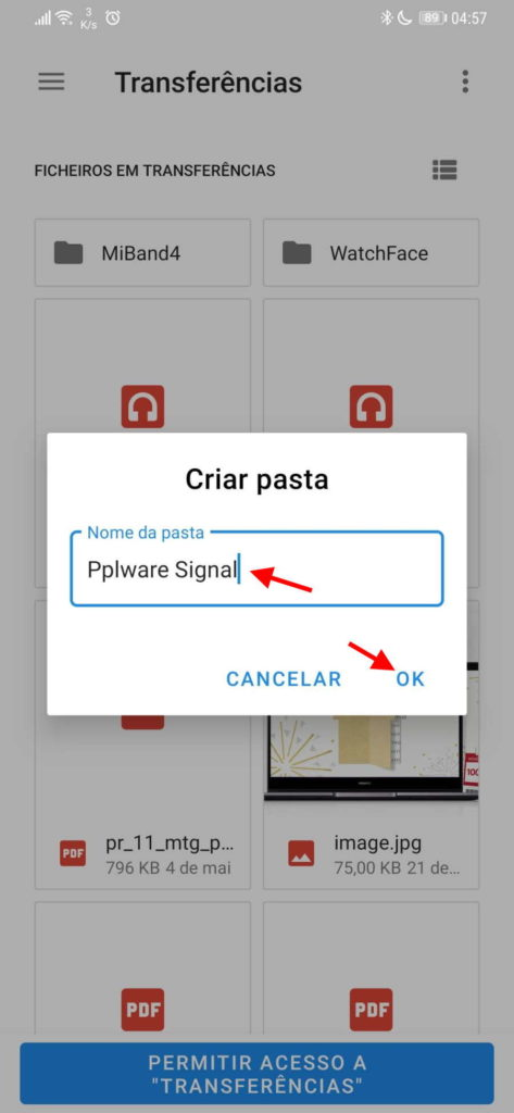 Signal backups cópias conversas segurança