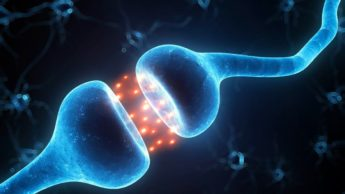 Ilustração sinapse do cérebro