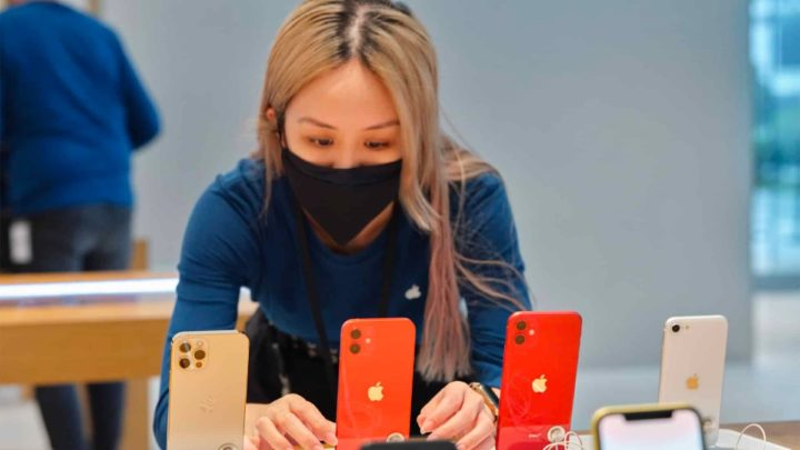 Imagem iPhones no mercado global de smartphones
