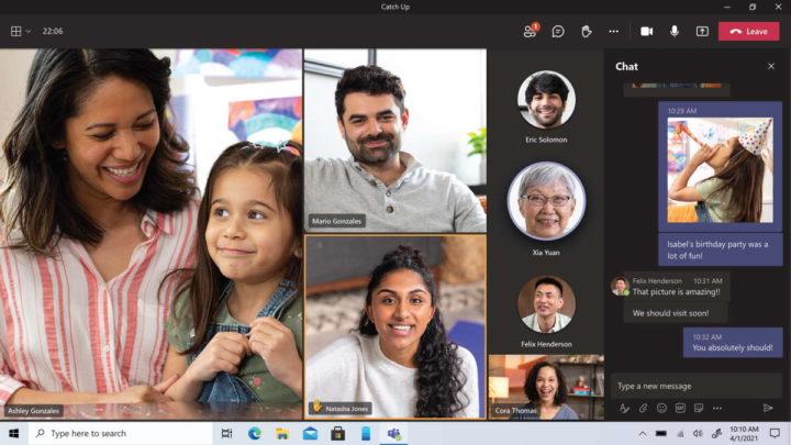 Teams Microsoft pessoais conversas