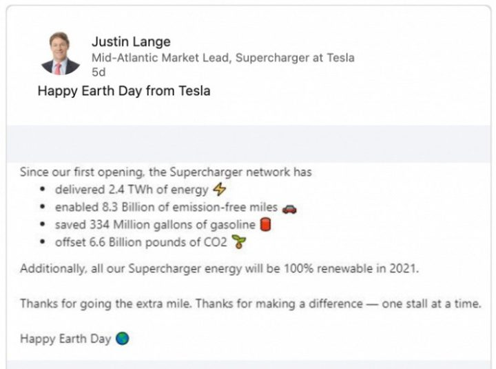 Superchargers da Tesla serão alimentados só com energia renovável