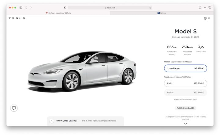 Imagem Tesla Plaid