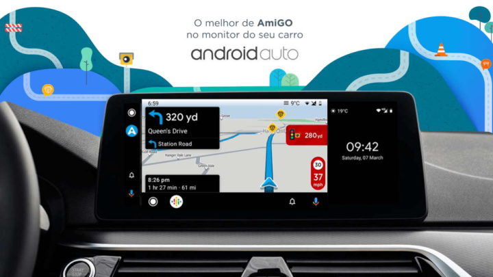 Android Auto Google Maps conduzir