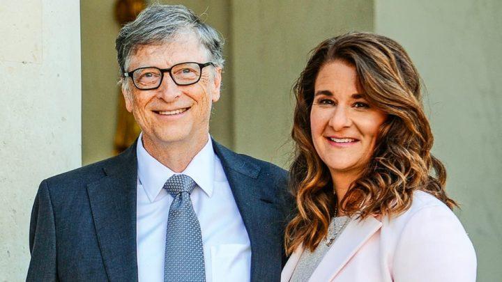 Imagem de Bill e Melinda Gates. Xiaomi gozou-os no Twitter mas usou um iPhone