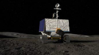 Imagem rover do programa Artemis para procurar água no polo sul da Lua
