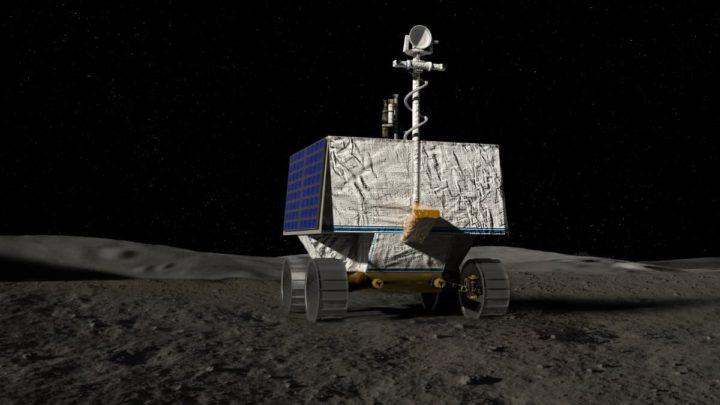 Imagem rover VIPER, da NASA, do programa Artemis, para procurar água no polo sul da Lua