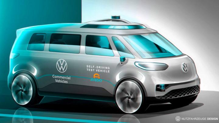 Táxi elétrico com sistema de condução autónoma da Volkswagen