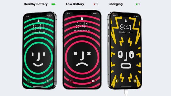 Imagem wallpaper interativo para bateria iPhone