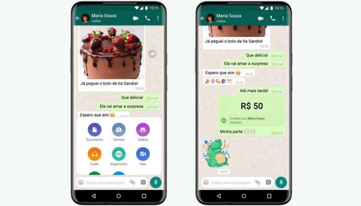 WhatsApp dinheiro Brasil Facebook dinheiro
