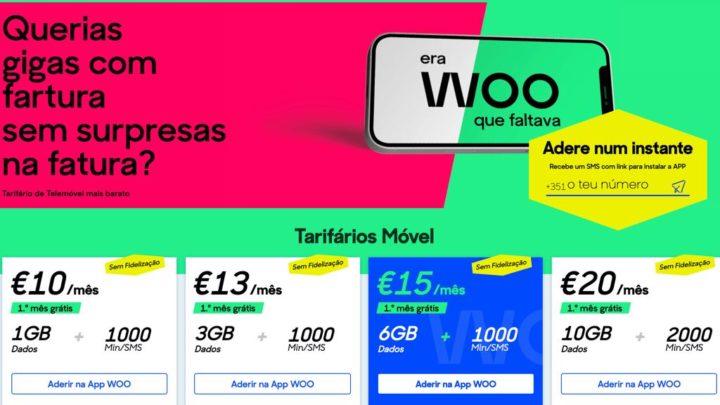 Woo da NOS: Tarifários de telemóvel ainda mais baratos