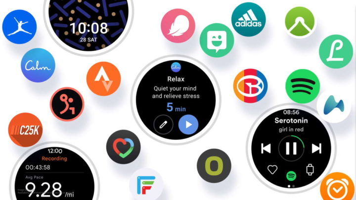 Samsung One UI Watch smartwatch smartphone relógio