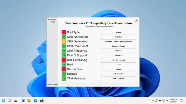 Windows 11 Microsoft WhyNotWin11 requisitos sistema
