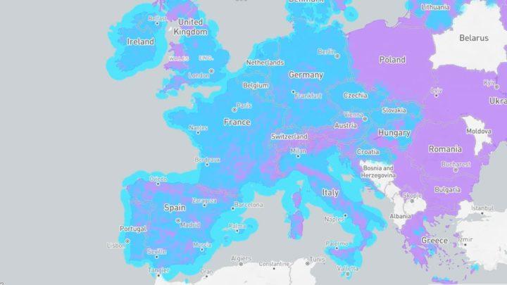 Imagem mapa de cobertura sinal GPS
