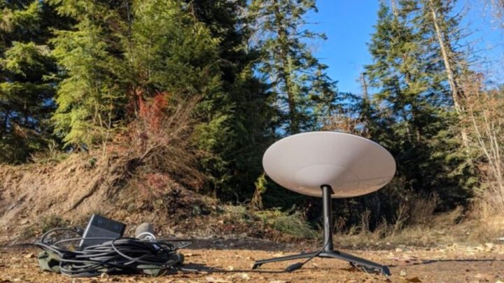 Imagem antena Starlink para internet por satélite