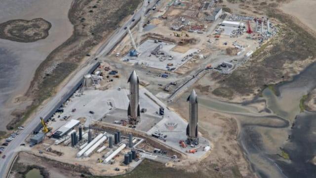 Imagem Boca Chica, base da SpaceX