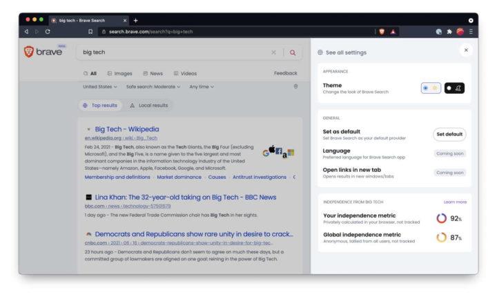Brave motor pesquisa browser privacidade