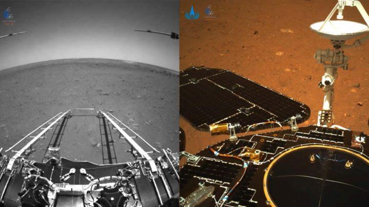Imagem do rover chinês no planeta vermelho