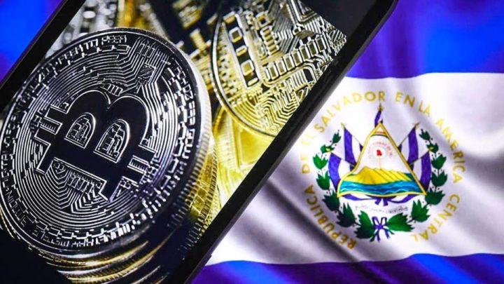 Ilustração Bitcoin em El Salvador com app Chibo