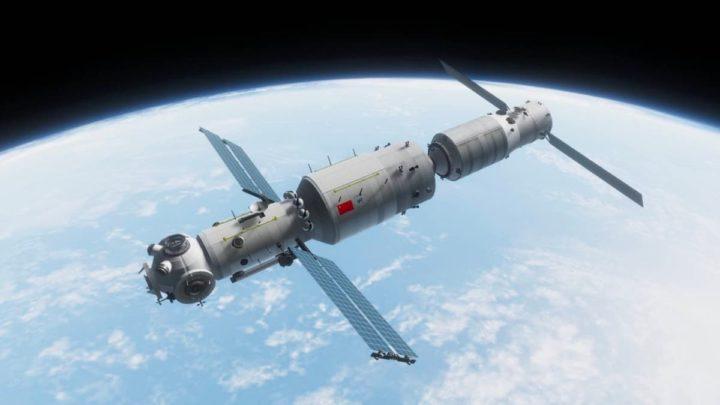 Ilustração da Estação Espacial da China