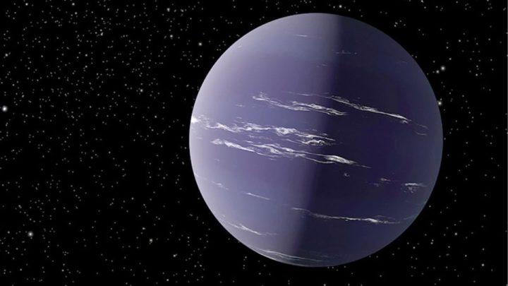 Ilustração da NASA do exoplaneta TOI-1231 b