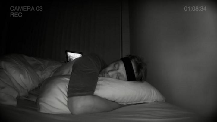 Homem durante o sono