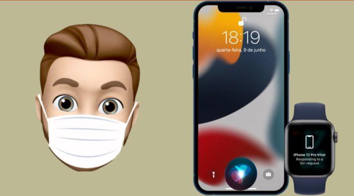Ilustração uso da Siri para desbloquear ações no iPhone com o novo iOS 15