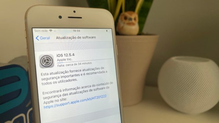 Imagem iPhone 6 com atualização do iOS 12.5.4