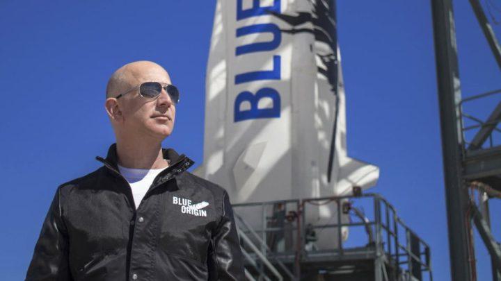 Imagem Jeff Bezos, CEO da Blue Origin