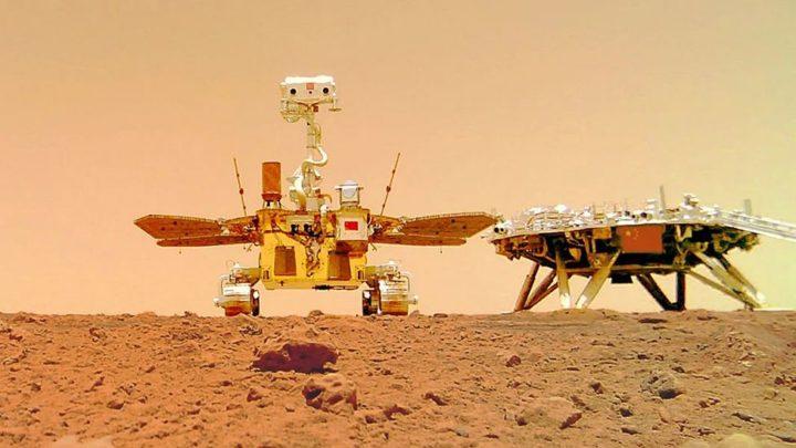 China publicou imagens a cores da superfície de Marte