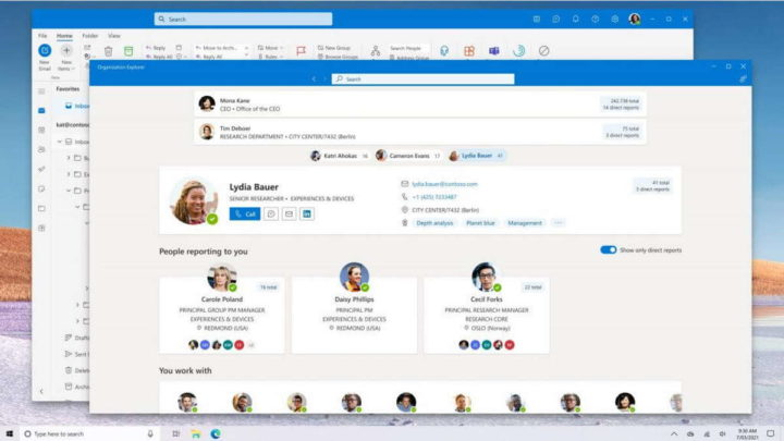 Outlook Windows 10 email imagens