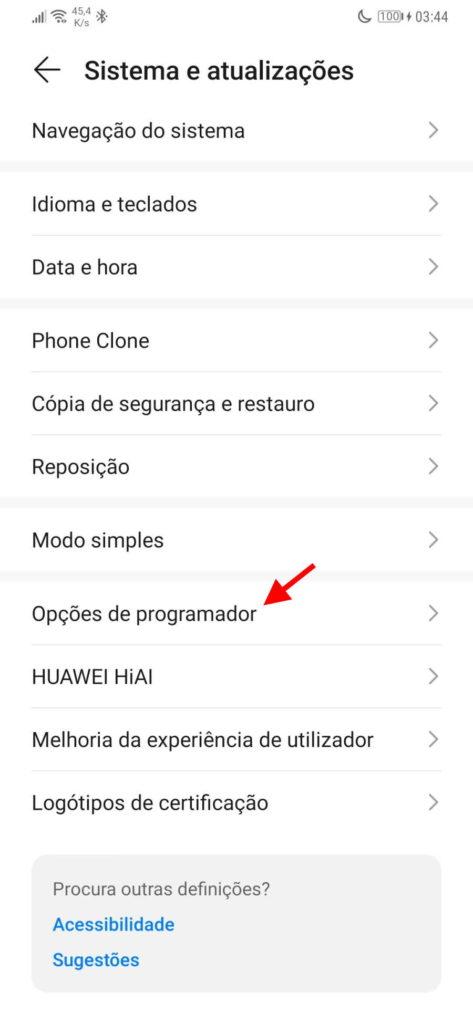 Ecrã ligado smartphone Android Google
