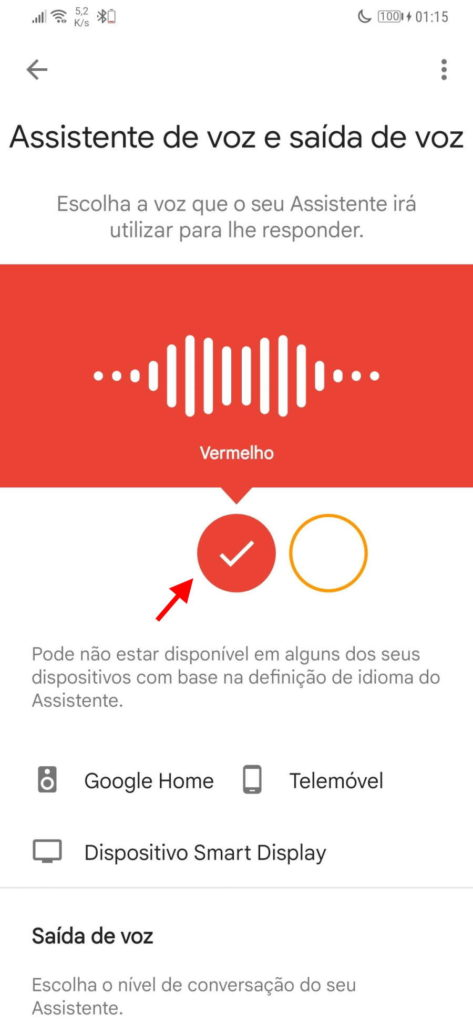 Assistente Google Android voz smartphone