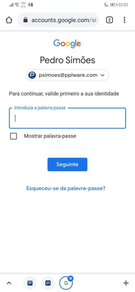 Google dados proteção segurança password