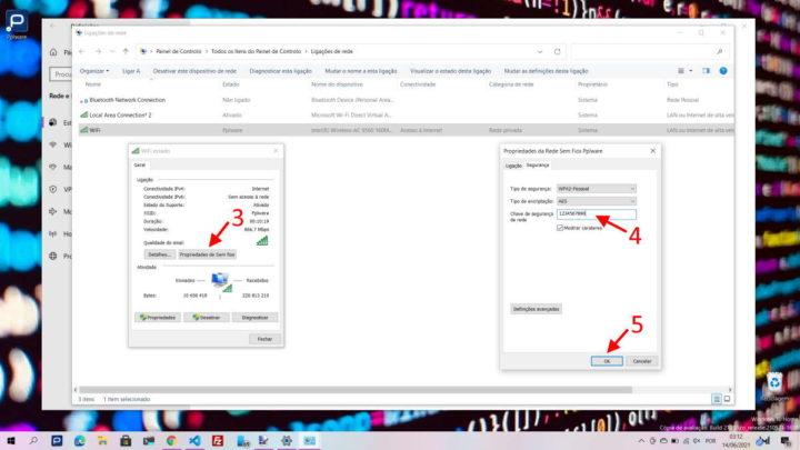 Windows 10 password WiFi segurança mudar