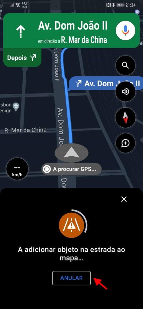 Google Mapas problemas trânsito estrada