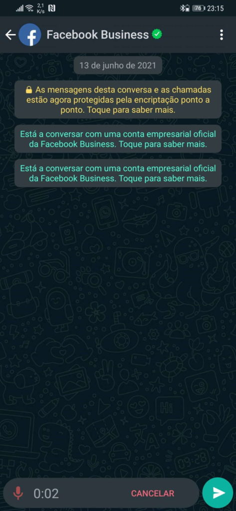 WhatsApp mensagens voz ouvir
