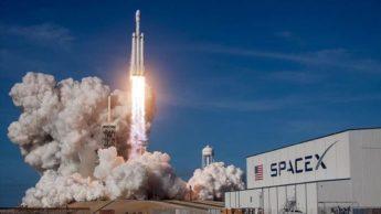 Imagem lançamento de foguetão SpaceX