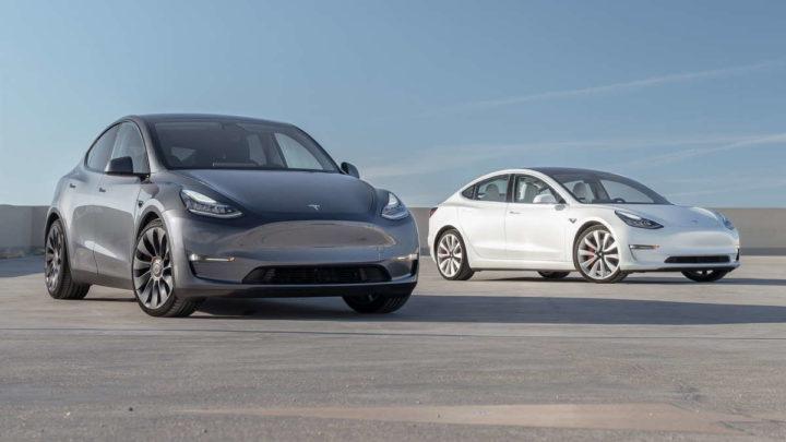 Tesla recolher Model Y Model 3 carros