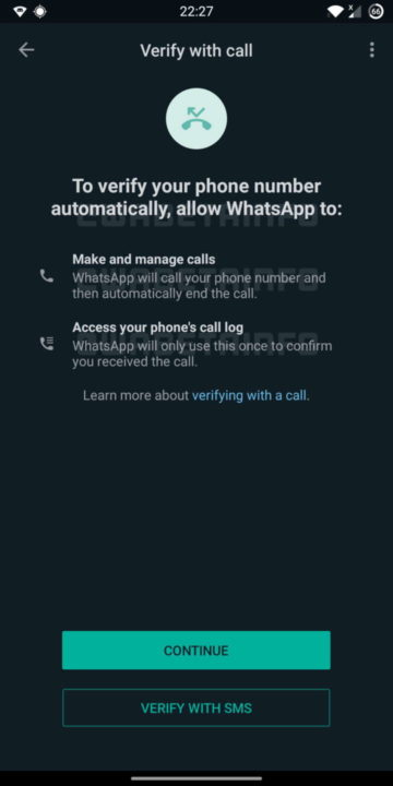 WhatsApp chamada validação segurança