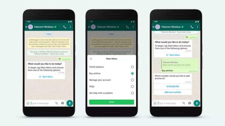 WhatsApp Facebook empresas mensagens negócios
