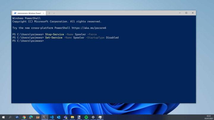 PrintNightmare Windows Microsoft falha segurança